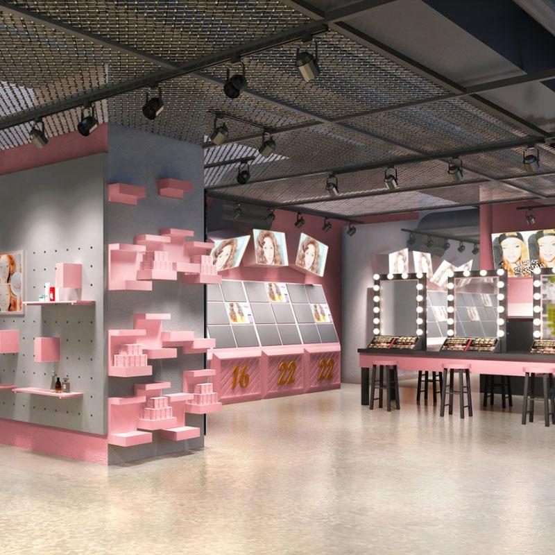 化妆品展示柜的定制吸引了更多消费者的关注