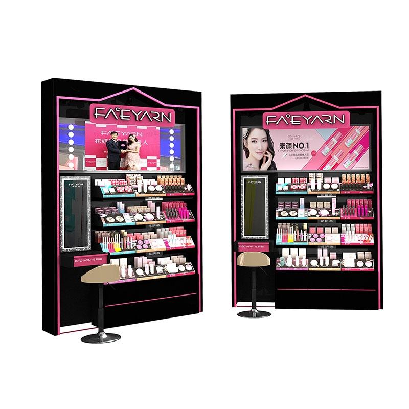 利用定制的展示柜来增加化妆品商家的销售额